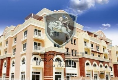 A studio apartment is available in the Emirates Garden complex in Jumeirah Village Circle