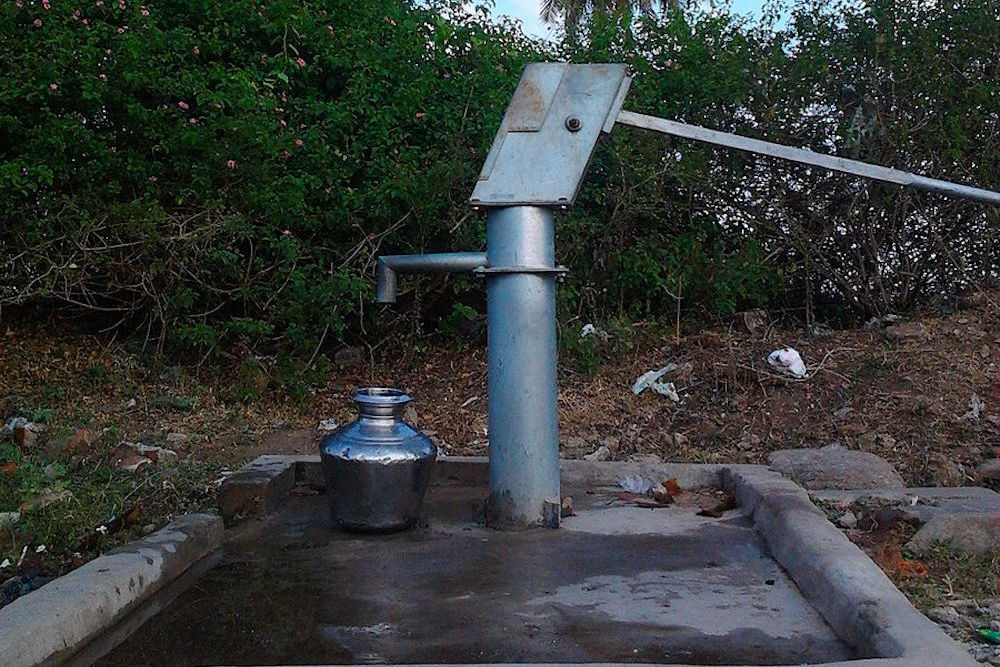 900px a groundwater pump in the village