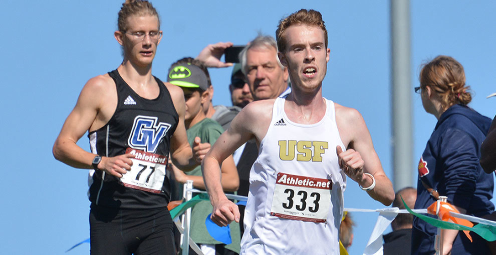 Cam Knudson helped the Saints in cross country, outdoor and indoor track and field this year.