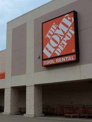 Large home depot store
