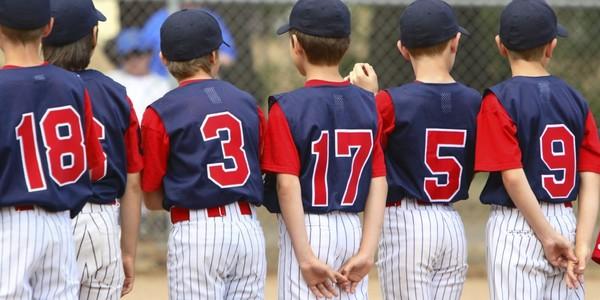 Large baseball youth