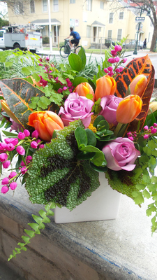 Natural floral arrangments always add a splash of color in the home.