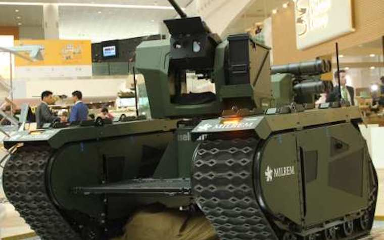 Milrem partners with Raytheon UK, Advanced Electronics Company and IGG Eselsan Systrems on Themis vehicle