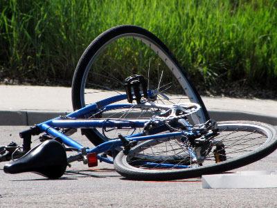 Crashed bicycle