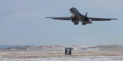 Boeing B-1 aircraft at Ellsworth Air Force Base