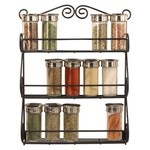 Spectrum Scroll Wall Mounted Spice Rack