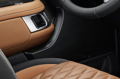 The seats display an abundance of class and style.
