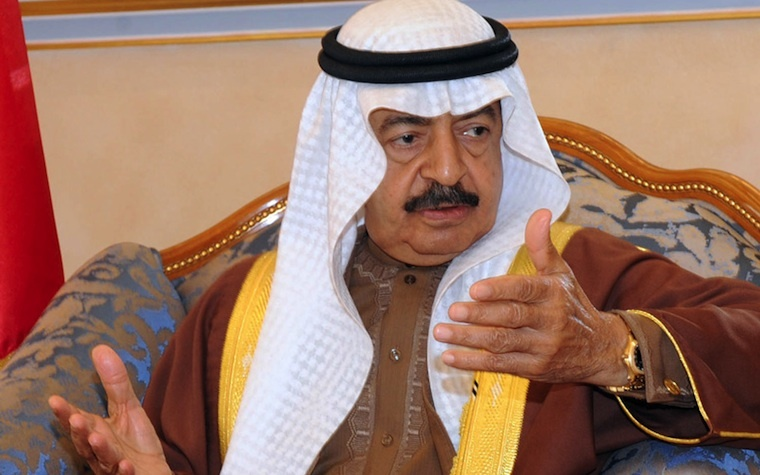 Bahrain's Prime Minister, Prince Khalifa bin Salman Al Khalifa