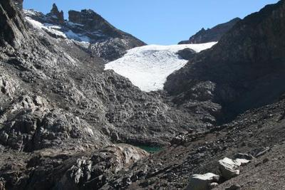 Mt. Kenya's Lewis glacier has disappeared almost completely over the last 75 years, shrinking by 90 percent.