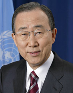 UN Secretary-General, Ban Ki-moon.