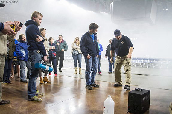 Liberty University partnered with the Virginia State Police to host a simulated bioterrorism attack at the Vines Center on Saturday, March 28.