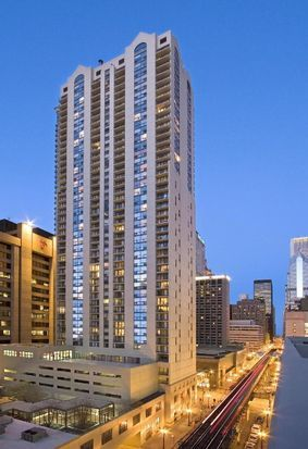 The condo located at 200 N. Dearborn St. in The Loop, currently offered for $210,500, had a 2016 property tax bill of $2,493.