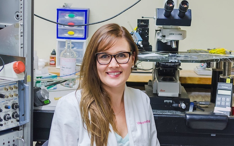 Erica Underwood, an applied cognition and neuroscience doctoral student, noticed that after three months of the high-fat diet, the rats suffered both physiological and behavioral impairment.