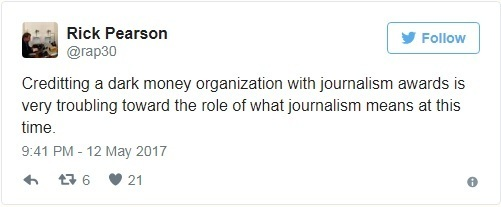 Twitter post by Chicago Tribune Chief Political Reporter Rick Pearson