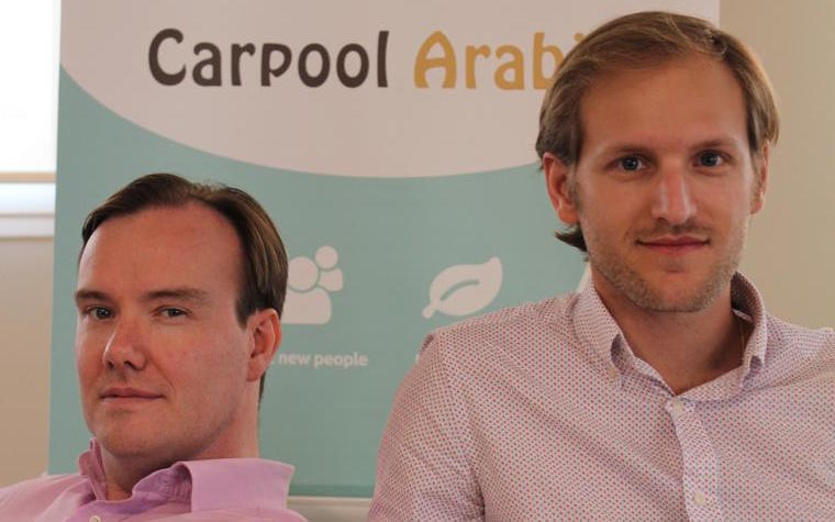 Carpool Arabia cofounders Benjamin de Terssac and Guillaume Arnaud
