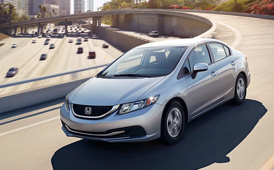 The 2015 Honda Civic Sedan is efficient and fun to drive.