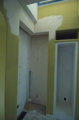 To avoid getting your house dusty, wet sanding the drywall is a good option.