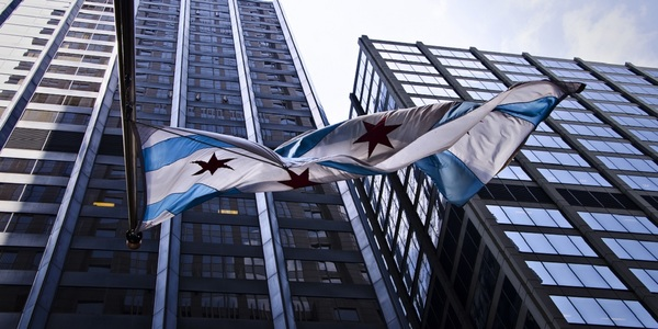 Large chicago flag large