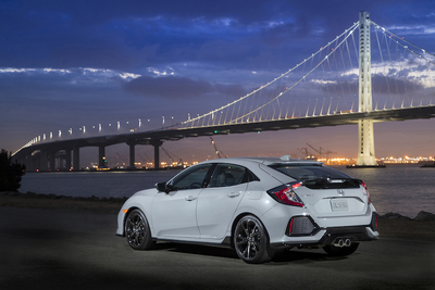 The new hatchback brings to three the number of Civic body styles. Although the coupe is likely the best looking of them all, the hatch provides the best mix of sportiness and function.