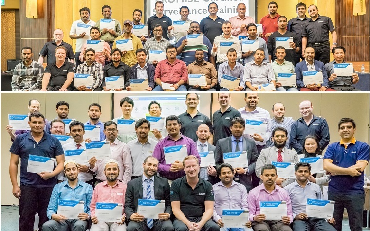 A look at the participants who joined the Promise Technology Certified Training Course for video surveillance in Dubai and Abu Dhabi.