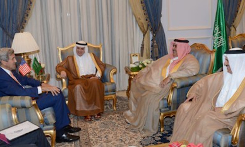 Bahrain minister of foreign affairs meets with Saudi foreign minister, U.S. secretary of state