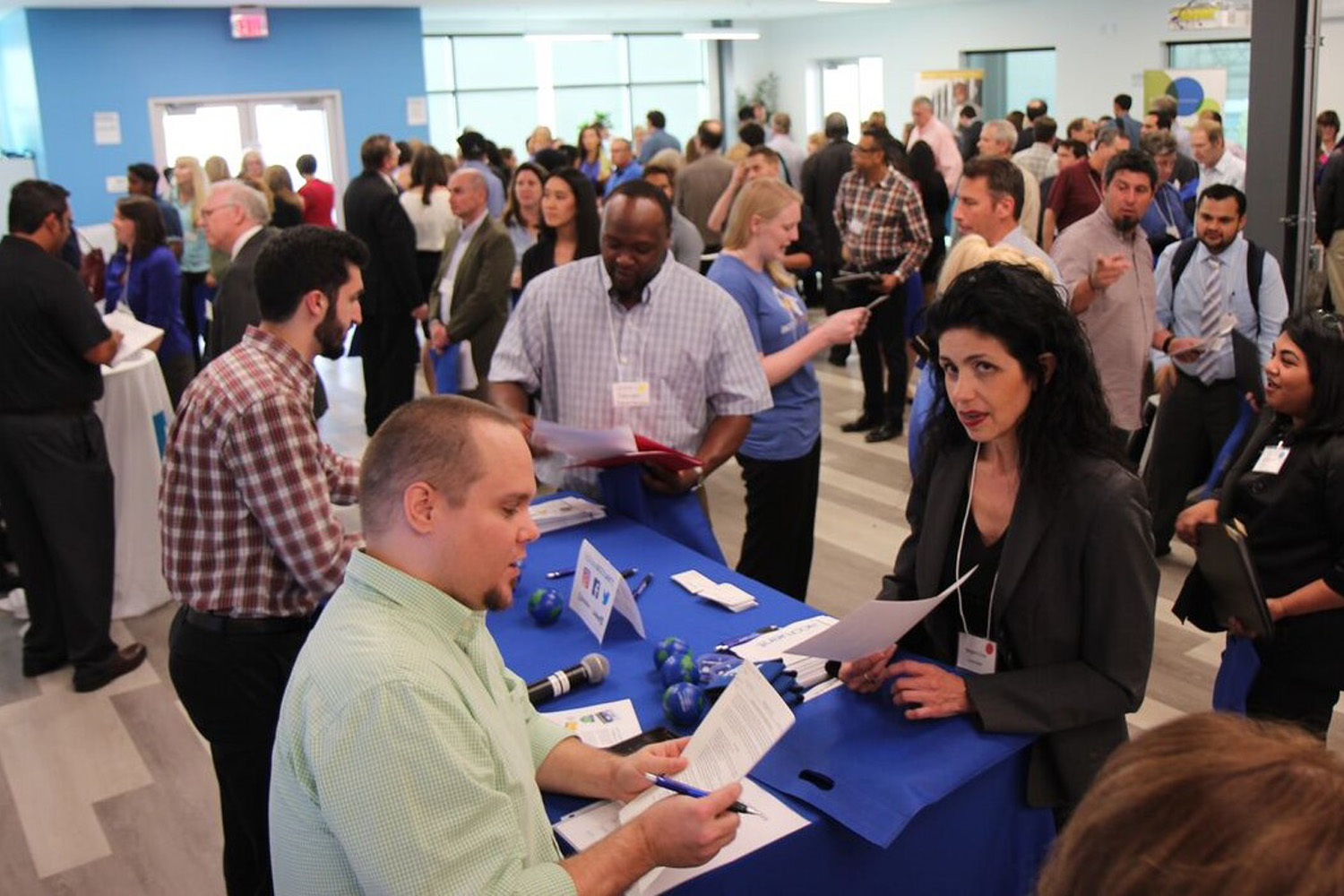 Attending job fairs and meet-up groups helps create networking opportunities and direct access to potential employers.