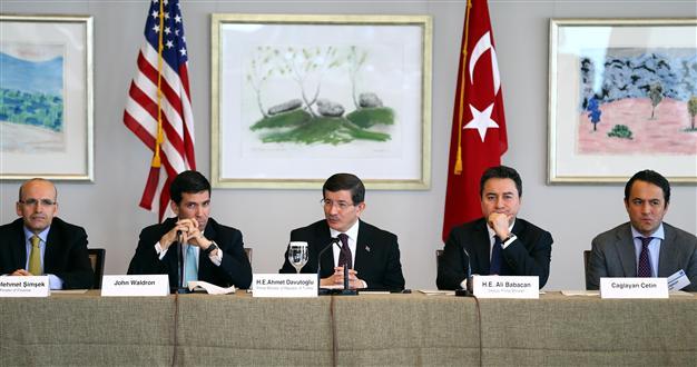 Turkish Prime MInister, Ahmet Davutoglu meets with U.S. invstors.