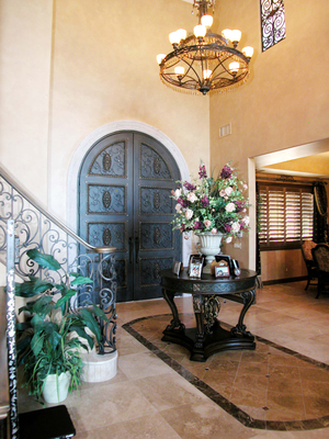 A home foyer is the first opportunity to make a good impression.
