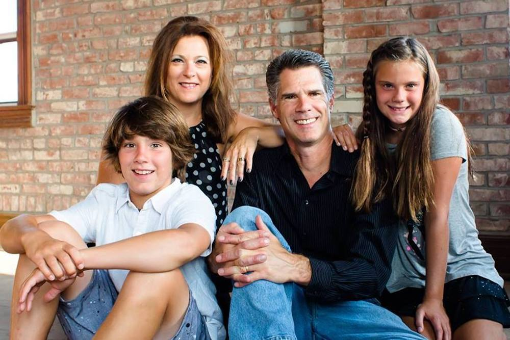 Republican state House candidate David Friess and his family