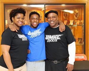 Lanphier High School guard Xavier Bishop recently signed with the UMKC basketball team.