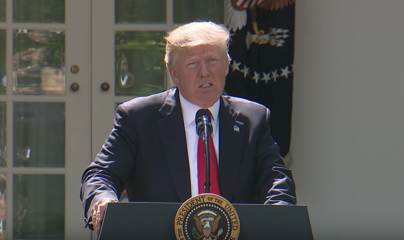 In a White House address given 6/1/17, President Donald J. Trump announced that the United States will withdraw from the Paris Climate Accord.