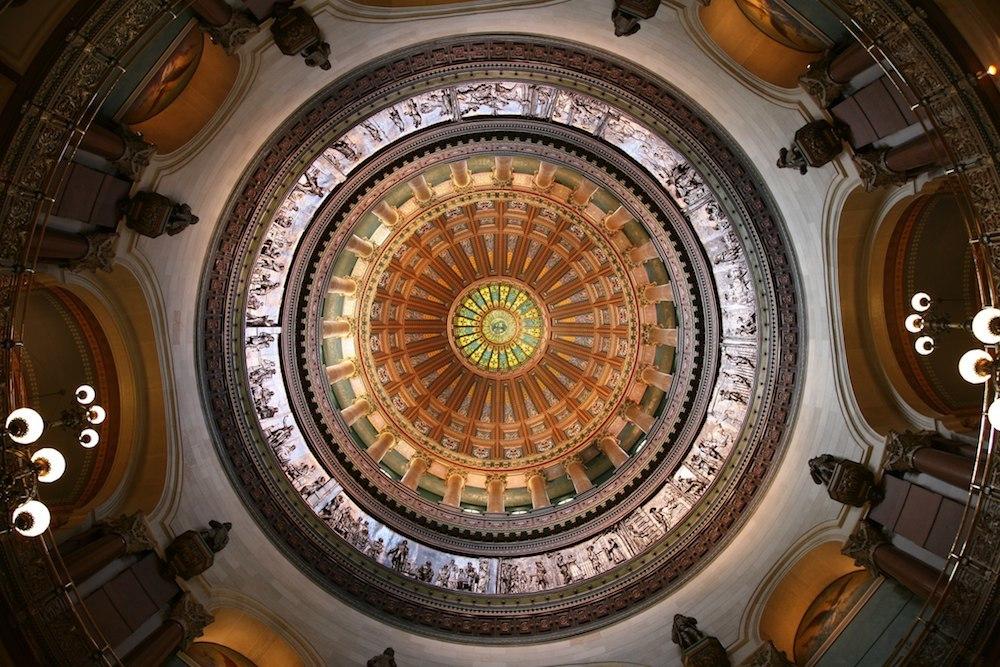 Illinois state capitol dome....