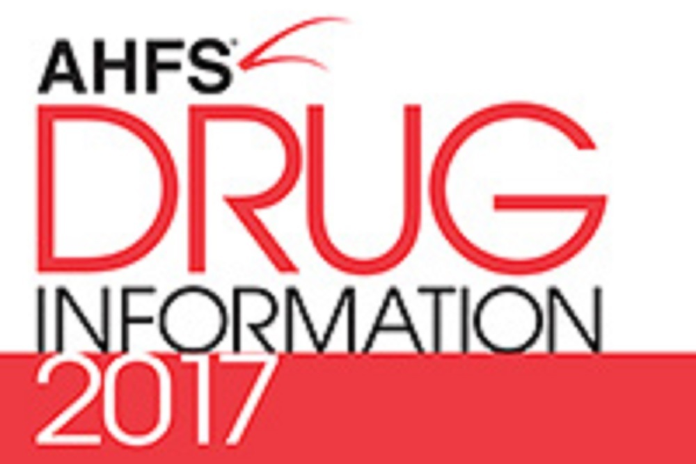 The AHFS DI includes a database of drug monographs.