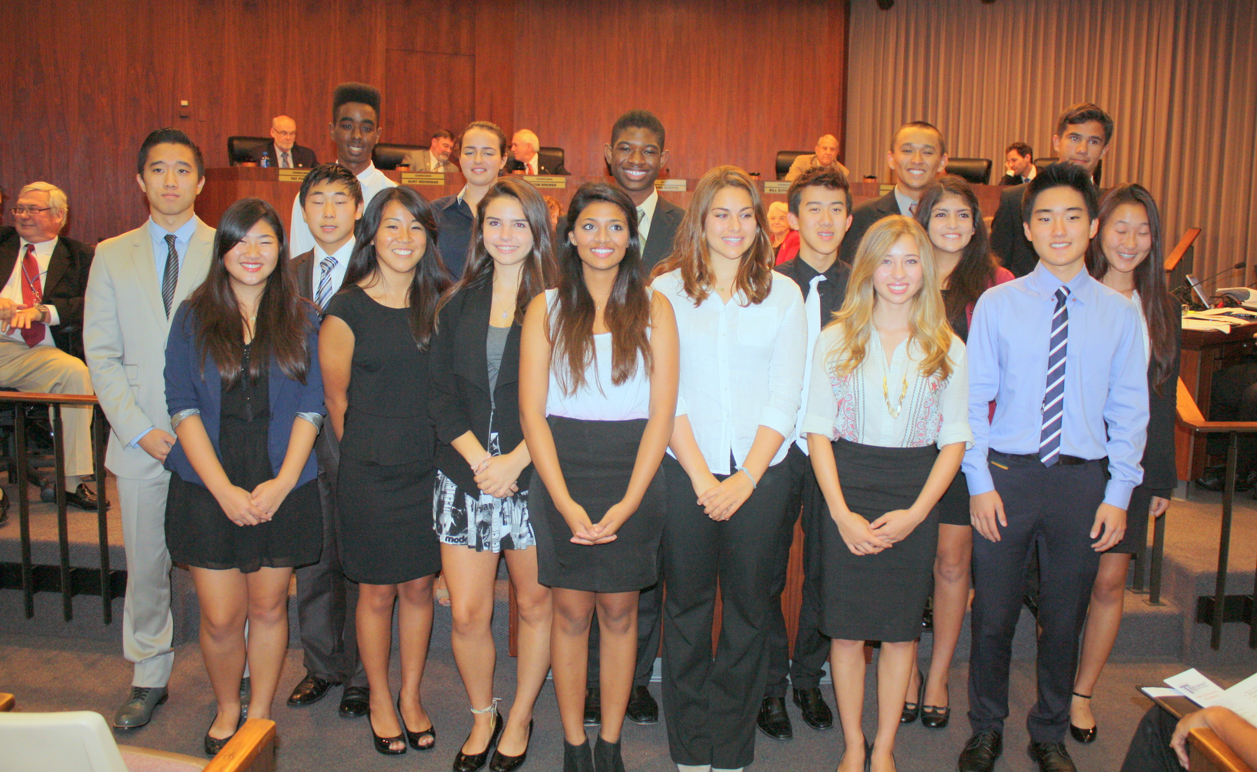 The Torrance Youth Council is an advisory body to the City Council on matters pertaining to youth in Torrance.