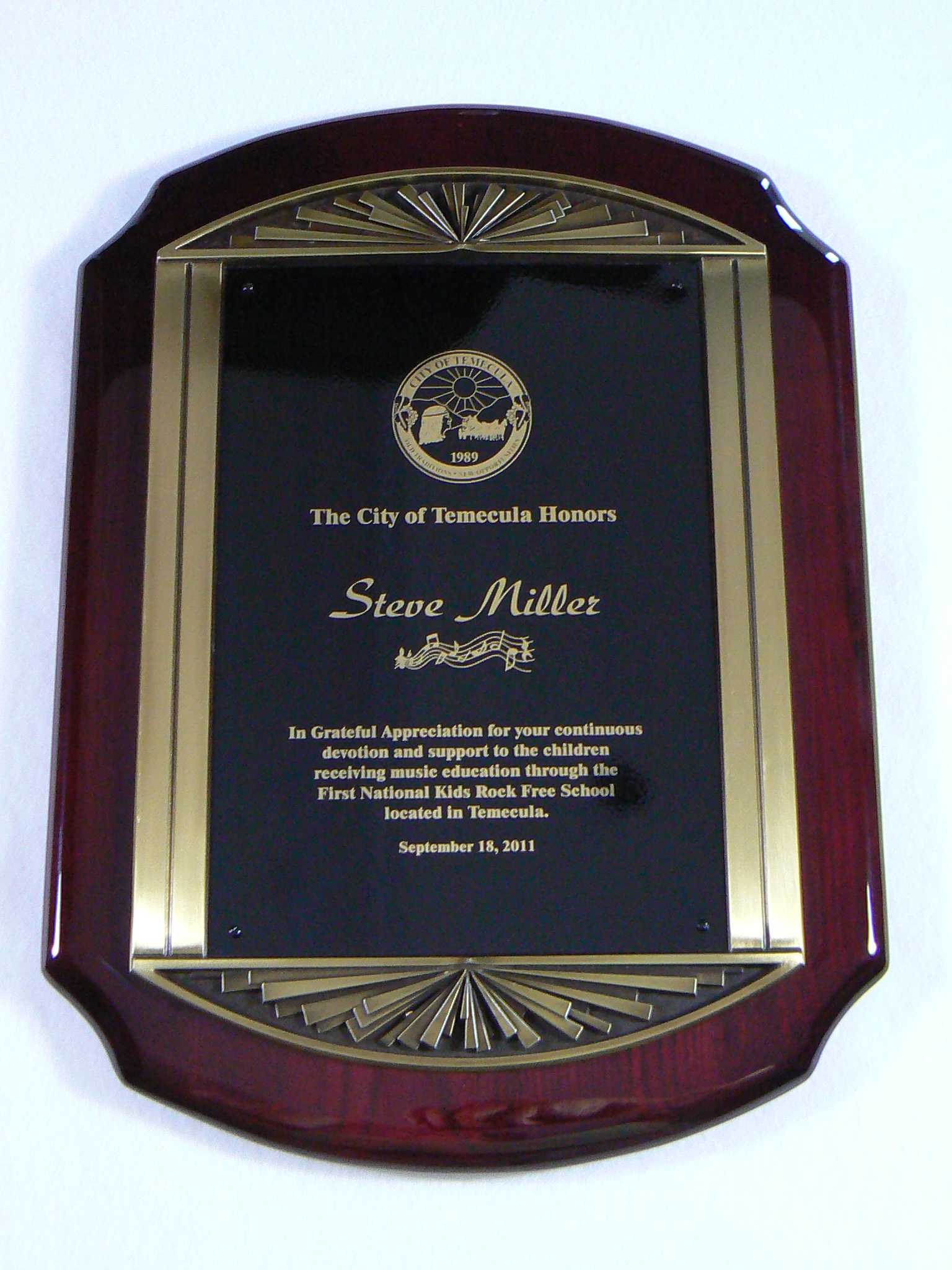 The Momence City Council met Oct. 6 to give City Hall the Les Dumontelle award.