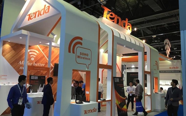 Tenda participates in GITEX, showcasing '5G for a Speeding Life' display