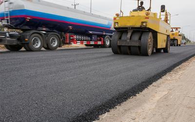 Medium roadpaving