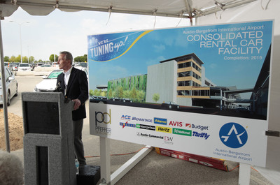 Austin Bergstrom International Airport held a groundbreaking ceremony in April for the new Consolidated Rental Car Facility.