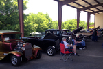 The Creedmoor vehicle show offers a covered pavilion for vehicles that arrive early enough to grab spaces.