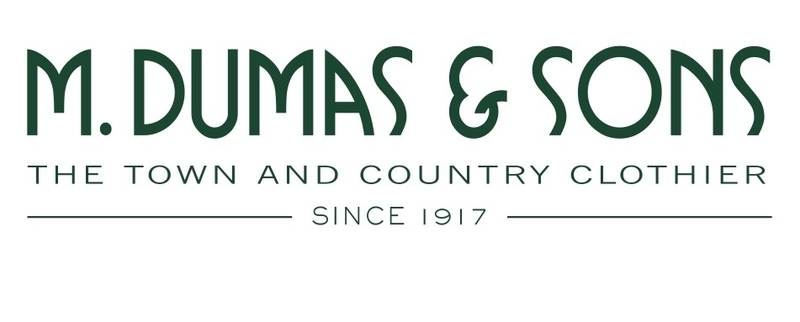 M. Dumas & Sons began as a uniform shop for service jobs, eventually turning into a menswear store.
