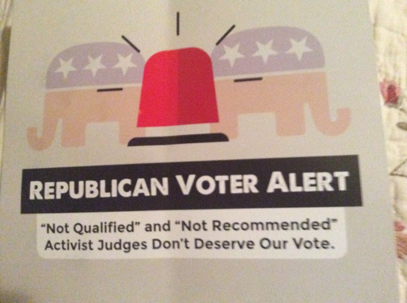 The front of a recent Fifth Appellate Court District campaign mailer