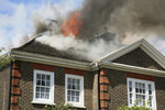 After a house fire, don't enter your home until told it's safe to do so by the fire department.