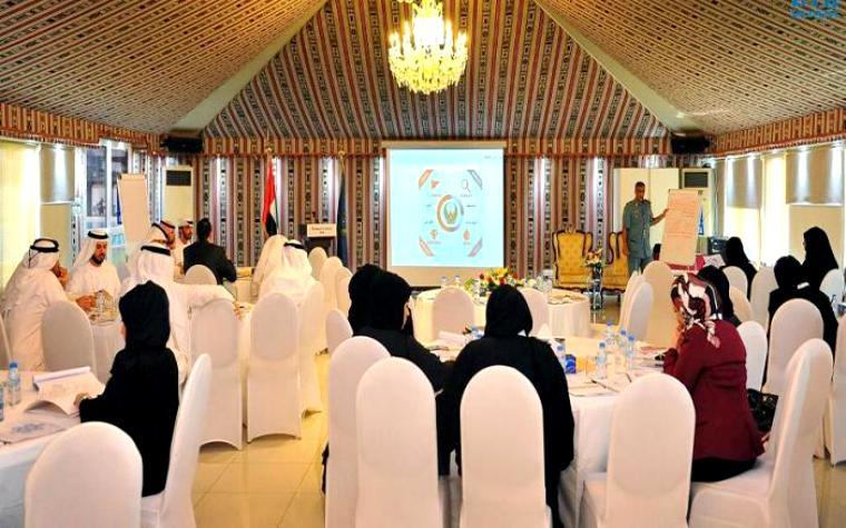 The Abu Dhabi police force coordinated a workshop recently for the Abu Dhabi Excellence Program.