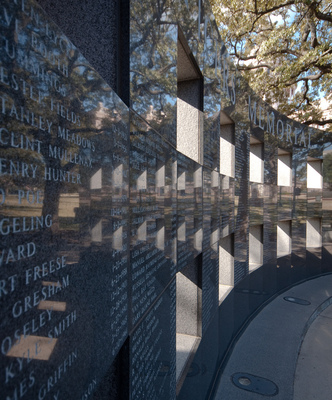 The Texas Peace Officers' Memorial is located on the northeast grounds of the Texas Capitol and is accessible from where Congress Avenue and 15th Street intersect.