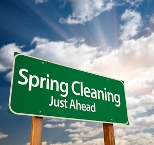 Medium springcleaning roadsign