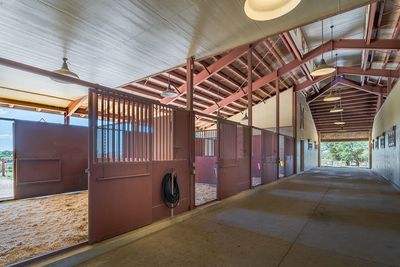 The property houses magnificent stables.