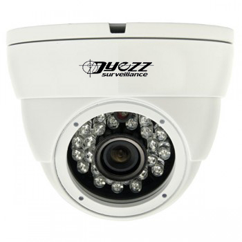 The turret-style camera, like the one shown here, is popular with homeowners in the Austin area.
