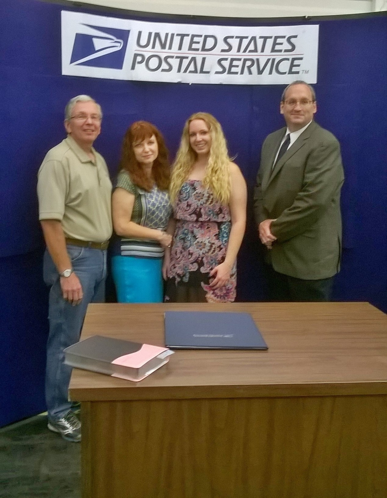 Melanie McCarthy welcomed as Warrenville's new postmaster.