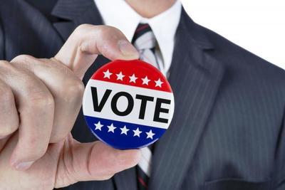 Medium politician vote button bucket