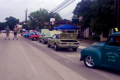 The Hill Country Rally for Kids Car Show now takes place on Mercer Street in downtown Dripping Springs.